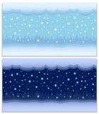 Invierno día y noche dos fondos inconsútiles del vector stock de ilustración