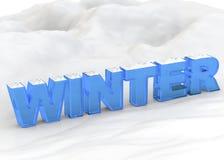 Invierno - 3D Imagenes de archivo