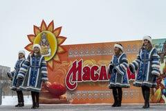 Invierno de 'Maslenitsa 'del día de fiesta foto de archivo libre de regalías