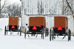 Invierno de Amish Fotografía de archivo