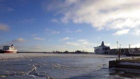Invierno de Helsinki fotos de archivo