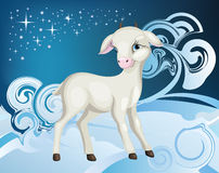 Invierno de la cabra Foto de archivo libre de regalías