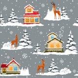 Invierno de la casa ilustración del vector