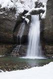 Invierno de la cascada Fotografía de archivo