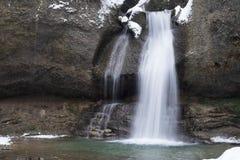 Invierno de la cascada Imagen de archivo libre de regalías