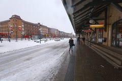 Invierno de la estación de Lund Imagenes de archivo