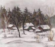 Invierno de la nieve ilustración del vector
