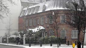 Invierno de la nieve de Londres metrajes