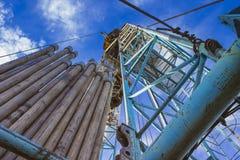 Invierno de la plataforma de perforación de la tierra Imagen de archivo
