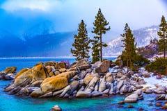 Invierno de Lake Tahoe Foto de archivo libre de regalías