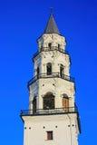 Invierno de Nevyansk de la torre inclinada Rusia Foto de archivo