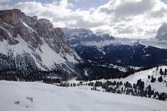 Invierno de Valgardena Imagenes de archivo