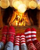 Invierno del día de fiesta de la familia de Navidad de la Navidad Foto de archivo libre de regalías