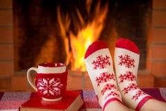 Invierno del día de fiesta de la familia de Navidad de la Navidad Fotografía de archivo libre de regalías