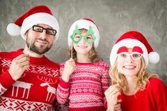 Invierno del día de fiesta de la familia de Navidad de la Navidad Imagen de archivo libre de regalías