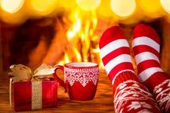Invierno del día de fiesta de la familia de Navidad de la Navidad Imagenes de archivo