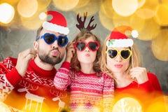 Invierno del día de fiesta de la familia de Navidad de la Navidad Imágenes de archivo libres de regalías