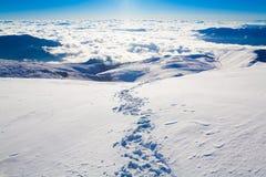 Invierno del día de la montaña fotos de archivo