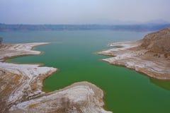 Invierno del depósito de Liujiaxia Imagenes de archivo