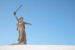 Invierno del monumento de Stalingrad Imagen de archivo libre de regalías