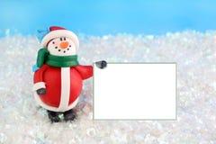 Invierno del muñeco de nieve Imagen de archivo libre de regalías
