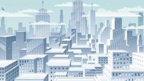 Invierno del paisaje urbano almacen de video