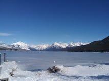 Invierno del Parque Nacional Glacier Imágenes de archivo libres de regalías