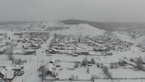 Invierno del pueblo de Kusiya almacen de video