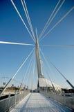 Invierno del puente de Provencher Imagenes de archivo
