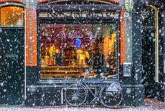 Invierno en Amsterdam fotos de archivo
