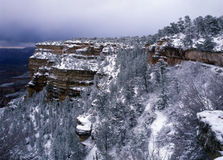 Invierno en barranca magnífica Foto de archivo libre de regalías