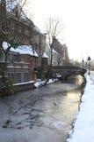 Invierno en Brujas Imagen de archivo