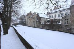 Invierno en Brujas Imagenes de archivo