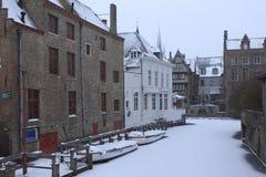 Invierno en Brujas Foto de archivo