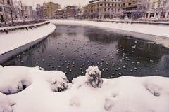Invierno en Bucarest Foto de archivo libre de regalías