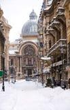 Invierno en Bucarest - centro histórico Fotografía de archivo