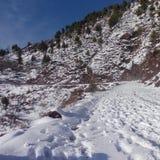 Invierno en Cachemira Azad fotografía de archivo