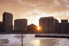 Invierno en Chicago foto de archivo libre de regalías