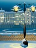 Invierno en ciudad Imagen de archivo libre de regalías