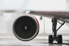 Invierno en el aeropuerto Fotografía de archivo libre de regalías