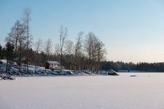 Invierno en el archipiélago Foto de archivo libre de regalías