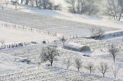 Invierno en el campo Foto de archivo libre de regalías