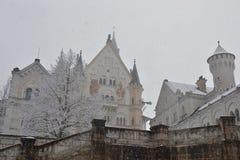 Invierno en el castillo de Neuschwanstein Imagenes de archivo