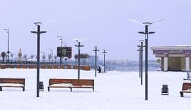 Invierno en el cuadrado de Poshtova Fotos de archivo