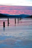 Invierno en el d'Alene de Coeur del lago. Fotografía de archivo
