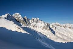 Invierno en el glaciar Imagen de archivo libre de regalías