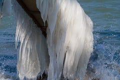 Invierno en el lago Suiza geneva Foto de archivo libre de regalías