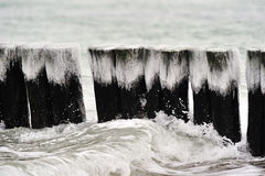 Invierno en el mar Báltico Imagen de archivo libre de regalías