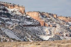 Invierno en el monumento nacional de Colorado fotografía de archivo libre de regalías