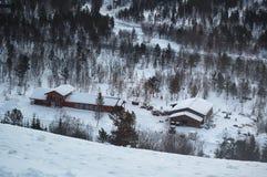Invierno en el país nórdico Foto de archivo